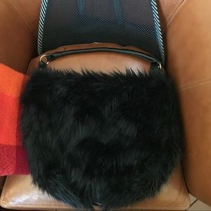 Faux Fur Fuzzy H&M hobo bag